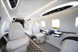 Cabin of the Learjet 85 Private Jet