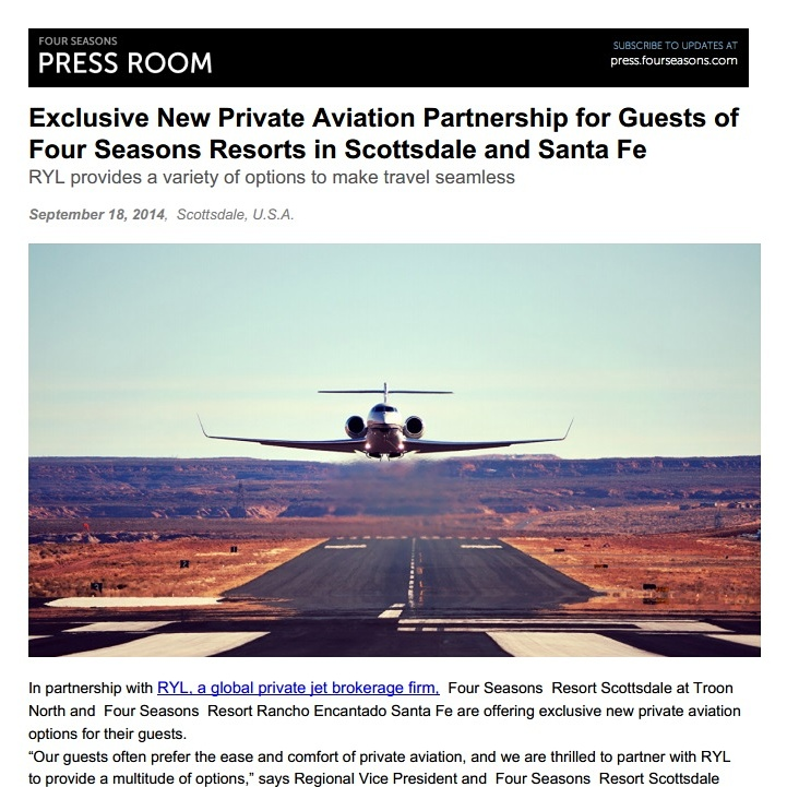 Four Seasons Private Jet Partnership